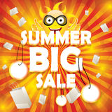 Summer sale design template Royalty Free Stock Images