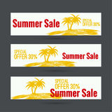 Summer sale design template Royalty Free Stock Photo