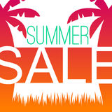 Summer sale design template with palms Royalty Free Stock Photos