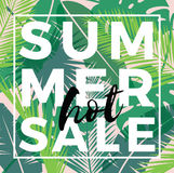 Summer sale design. Vector illustration. Stock Photography
