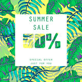 Summer sale Design Royalty Free Stock Image