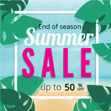Summer sale discount End of season banner. stock illustration