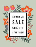 SUMMER SALE DISCOUNT PROMOTION BANNER Stock Photos