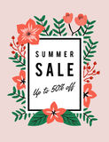 SUMMER SALE DISCOUNT PROMOTION BANNER Stock Photo