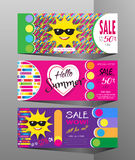 Summer Sale discount vouchers set Royalty Free Stock Images
