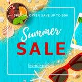 Summer sale elegant banner Royalty Free Stock Photography