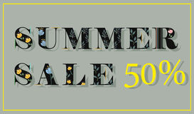 Summer Sale. Fifty percents. royalty free stock photography