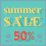 Summer Sale. Fifty percents stock photos