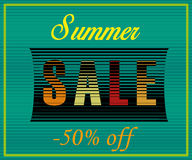 Summer Sale. Fifty percents off royalty free stock photos