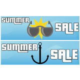 Summer Sale Flat Banner Stock Photography