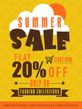 Summer sale flyer, banner or poster. Royalty Free Stock Images