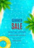 Summer sale flyer Stock Images