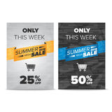 Summer Sale flyer template Royalty Free Stock Photo