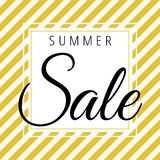 Summer sale on golden white stripes pattern. Vector Royalty Free Stock Photos