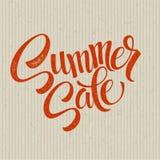 Summer  sale grunge label. Vector illustration Stock Images