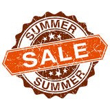Summer sale grungy stamp. Isolated on white background Stock Image