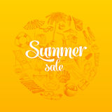 Summer sale hand drawn vector illustration Royalty Free Stock Photo