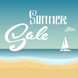 Summer Sale. Hand lettering vector banner. Royalty Free Stock Photography