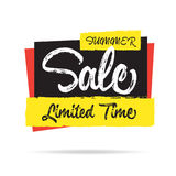 Summer Sale  heading design for banner or poster. Sale and Disco Stock Photography