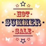 Summer sale. Hot background with summer sale. eps10 Stock Photos