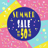 Summer sale hot offer banner for booklet, flyer, poster  Royalty Free Stock Image
