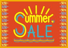 Summer sale  poster Royalty Free Stock Photography