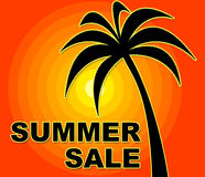 Summer Sale Indicates Cheap Save And Retail Royalty Free Stock Photography