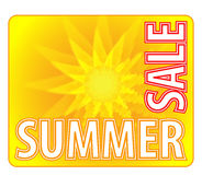Summer Sale - Information Message For Customers Royalty Free Stock Photo