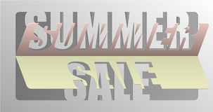 Summer Sale - Information Message For Customers Stock Photo