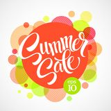 Summer Sale. Inscription Against The Bright Stock Photography