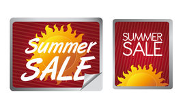 Summer sale label Royalty Free Stock Images
