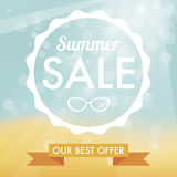 Summer sale label Royalty Free Stock Photos