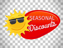 Summer sale label seasonal discount Royalty Free Stock Photos