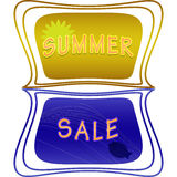 Summer sale label Stock Images