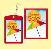Summer sale labels Royalty Free Stock Image