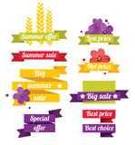 Summer sale labels Royalty Free Stock Images