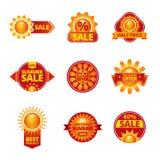 Summer sale labels set vector illustration