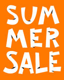 Summer sale lettering cute composition. Seasonal background for Royalty Free Stock Photos