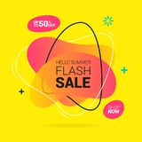 Summer sale lettering template banner. Vector illustration in yellow and orange color vector illustration