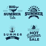Summer sale clearance vector badges. Summer sale logo clearance element vector advertising badges isolated. Some shopping big mega hand drawn collection of Royalty Free Stock Photo
