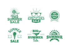 Summer sale logo vector illustration. Summer sale badge logo  on white background. Summer sale special shopping offer logo vector icon illustration silhouette Royalty Free Stock Images