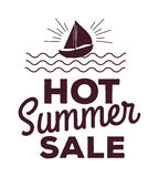 Summer sale logo vector illustration. Summer sale logo isolated on white background Stock Photography