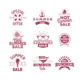 Summer sale logo vector illustration. Summer sale logo isolated on white background Stock Image