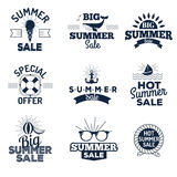 Summer sale logo vector illustration. Summer sale logo isolated on white background. Summer sale logo vector icon illustration. Summer sale logo isolated Royalty Free Stock Photo