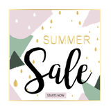 Summer Sale Luxury black,pink and gold Banner, for Discount Poster, Fashion Sale, backgrounds, in vector. Beautiful summer,luxury background for sales Stock Illustration