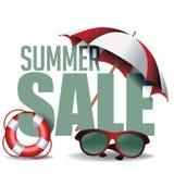 Summer sale marketing header. EPS 10 vector. Stock Vector Illustration for greeting card, ad, promotion, poster, flier, blog, article, social media, marketing royalty free illustration
