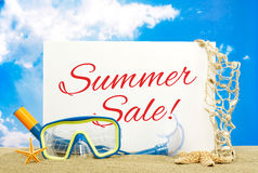 Summer sale message board Stock Images