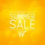 Summer sale message on orange Royalty Free Stock Image