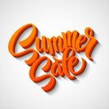 Summer sale message on orange background Royalty Free Stock Photos