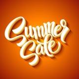 Summer sale message on orange background Royalty Free Stock Photo